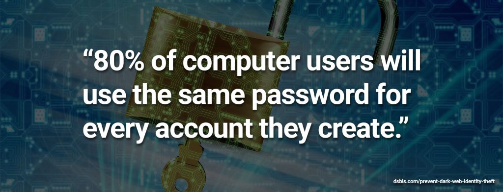 dark web identity theft password risk