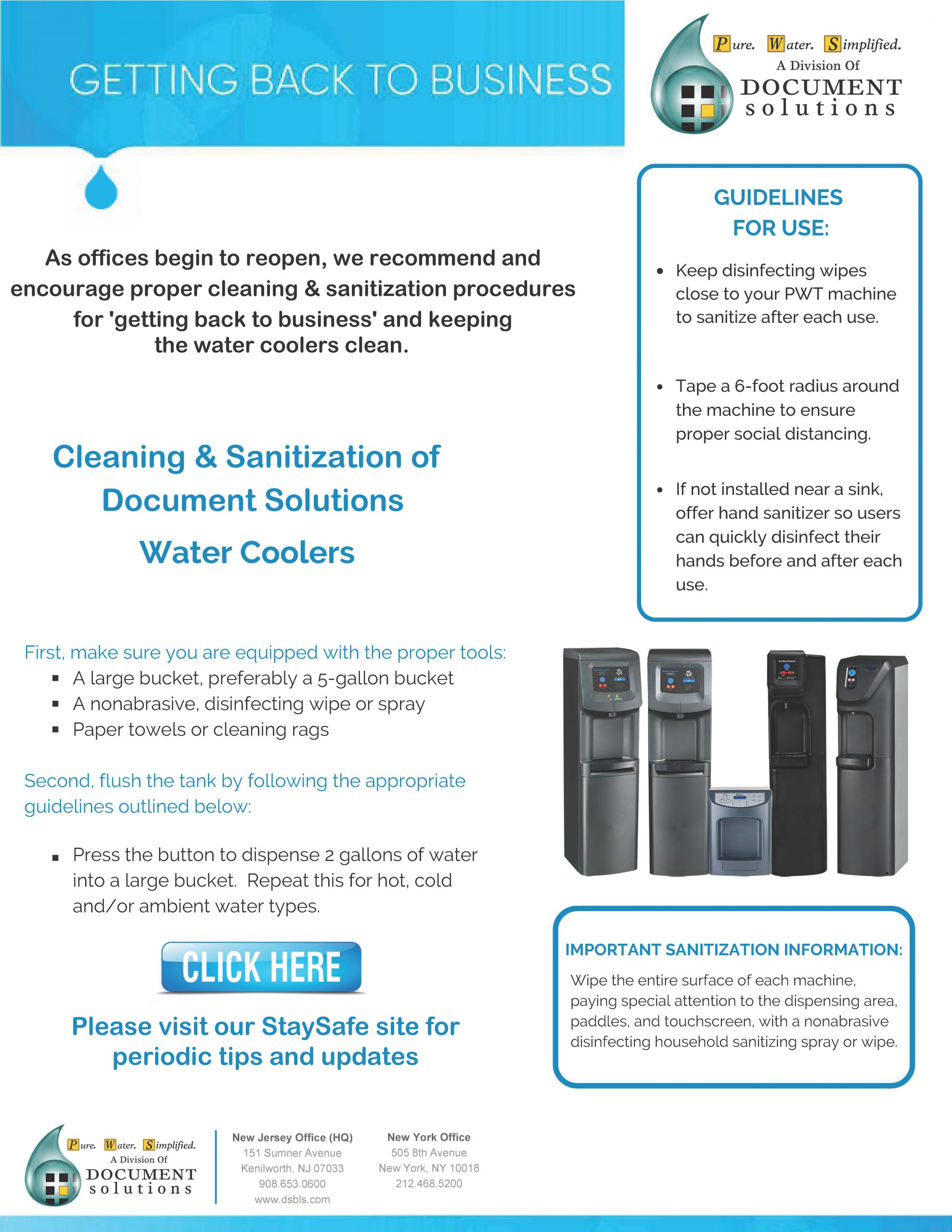 guide to getting back to business with office water cooler cleaning