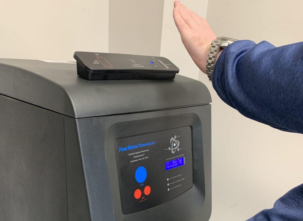 PSD sensor techology on top of a bottleless water cooler