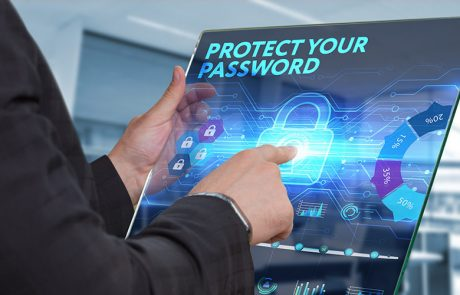 a man using tablet with a security lock on the screen to show the importance of password protection