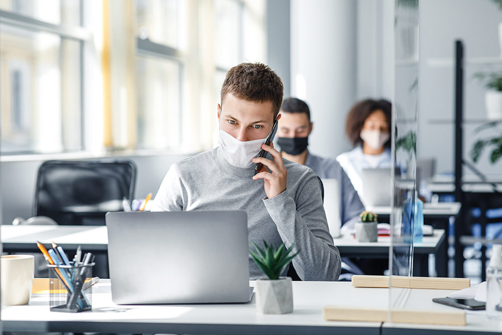 Working from home vs office: office space