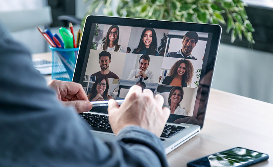 Using a video conference software while working from home is not only the future of remote work, but the presnt
