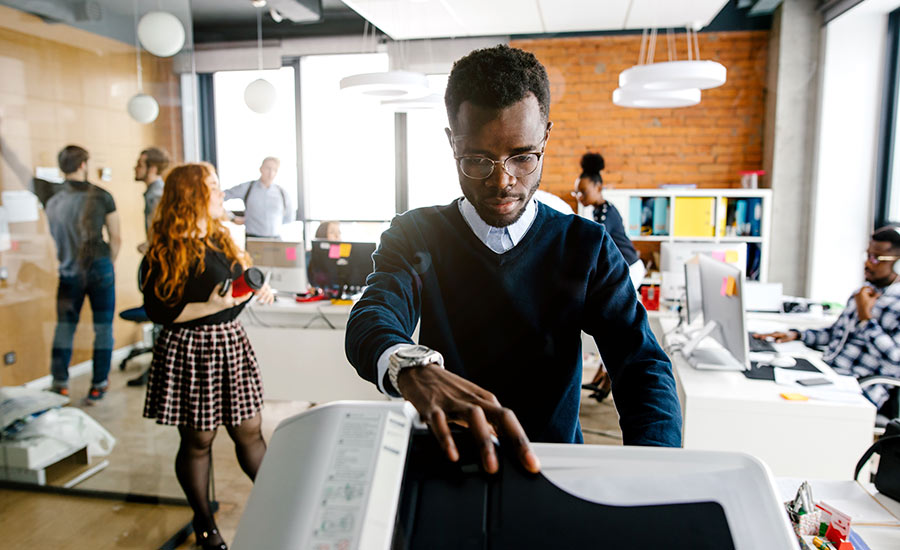 Managed print solutions: An office printer printing money