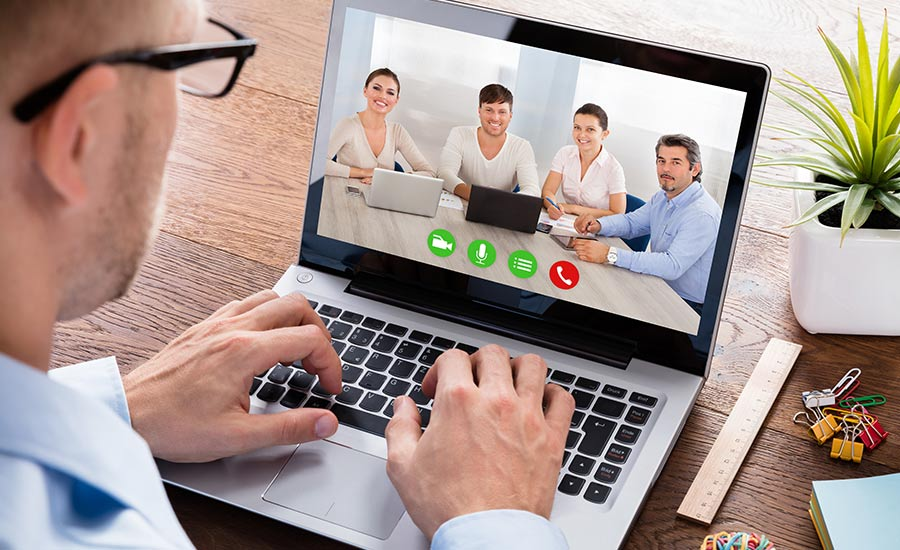 Videoconferencing connects people around the world
