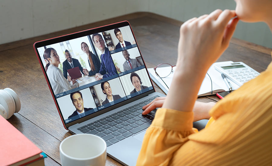 Illustration of the video conferencing functionality of DSBLS' VoIP solution