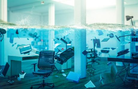 Water damage can harm your office equipment