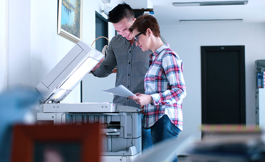 Leasing companies can give you another copier if your current one suffers from water damage